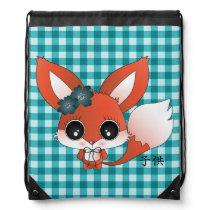Kata the fox drawstring backpack