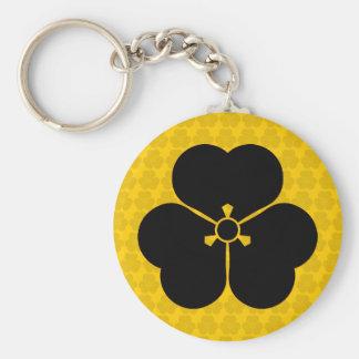 Katabami Basic Round Button Keychain