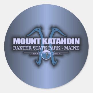 Katahdin 2 classic round sticker