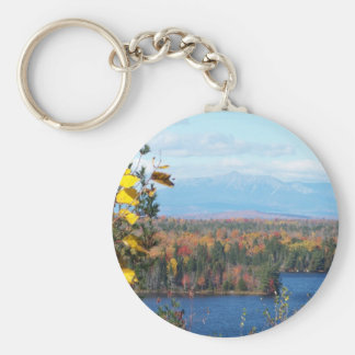 Katahdin in fall 4 basic round button keychain