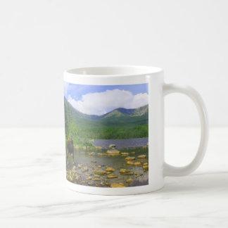 Katahdin Region Moose at Pond Coffee Mug