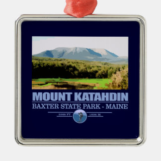 Katahdin Square Metal Christmas Ornament