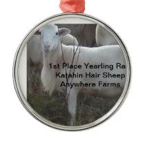 Katahin Hair Sheep Metal Ornament