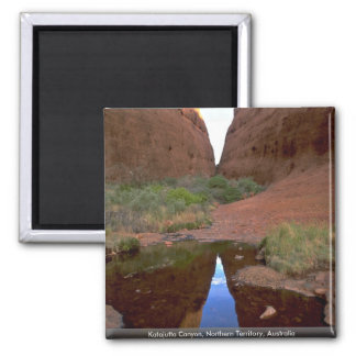 Katajutta Canyon, Northern Territory, Australia 2 Inch Square Magnet