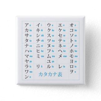 Katakana Chart Pin