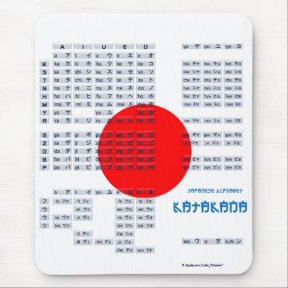 Katakana Japanese Alphabet Mousepad Flag