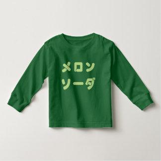 "Katakana ""Melon Soda"" Long Sleeve Toddler Tee"