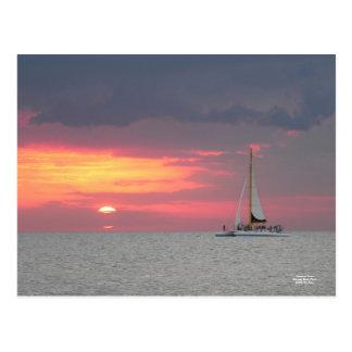 Katamaran Sunset Postcard