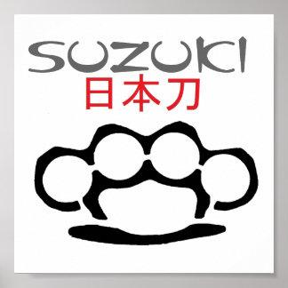 katana 2, brass-knuckles-image, SUZUKI Poster