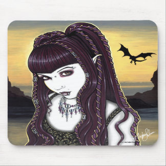 Katana Gothic Dragon Goddess Mousepad