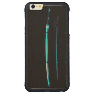 Katana japan war weapon sword steel samurai asian carved maple iPhone 6 plus bumper case