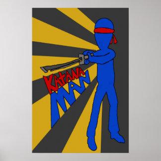 Katana Man Poster