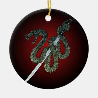 Katana Snake 1 Ceramic Ornament