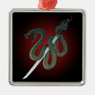Katana Snake 1 Metal Ornament