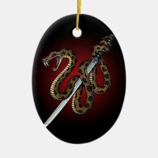 Katana Snake 2 Ceramic Ornament