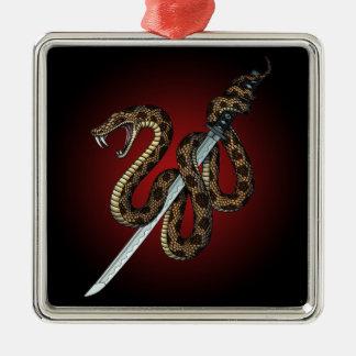 Katana Snake 2 Metal Ornament