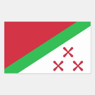 Katanga Rectangular Sticker