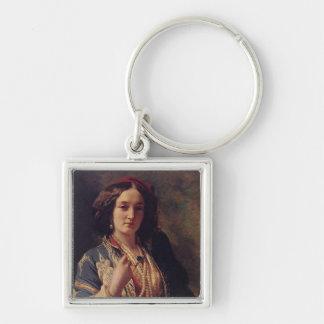 Katarzyna Branicka Silver-Colored Square Keychain
