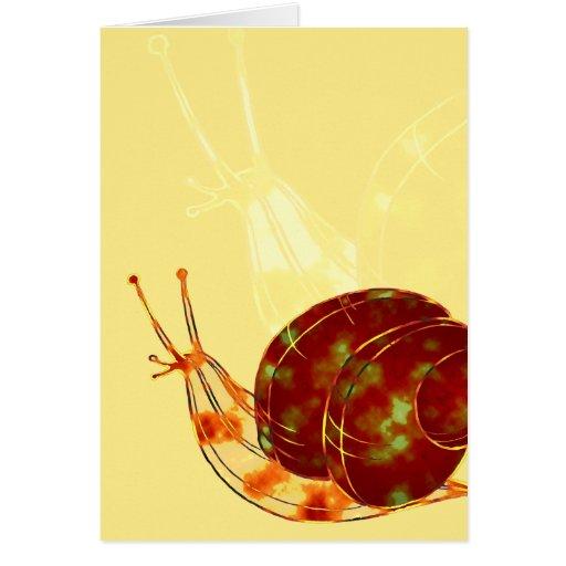 Katatsumuri o tarjeta del caracol