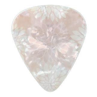 Katazome Rose Quartz Chrysanthemum Ombre Flower Pearl Celluloid Guitar Pick