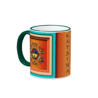 Katchina Sun Faces Ringer Coffee Mug