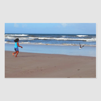 Kate and the Seagull Rectangular Sticker