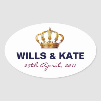 Kate and Wills Royal Wedding Sticker