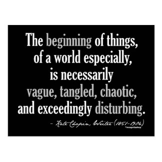 Kate Chopin Quote Postcard