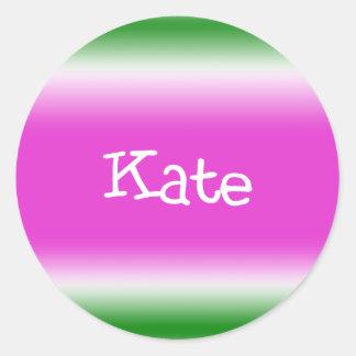 Kate Classic Round Sticker