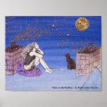 Kate en el tejado - autorretrato de la fantasía posters