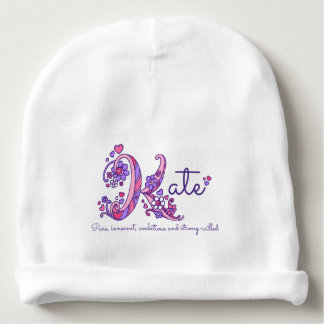 Kate girls name & meaning baby hat