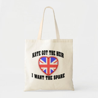 Kate Got The Heir I Want The Spare Canvas Bags