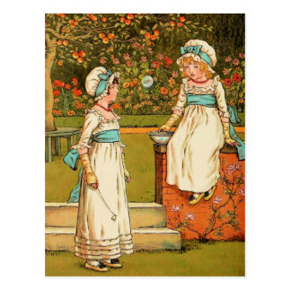 Kate Greenaway: Bubbles Postcard