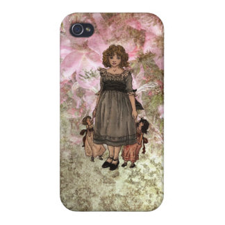 Kate Greenaway-Girl with Dolls iPhone Case Case For iPhone 4