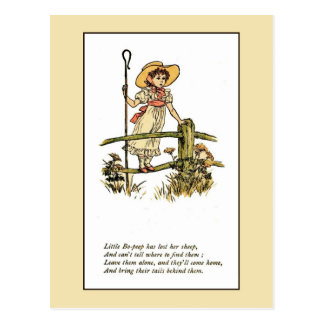 Kate Greenaway: Little Bo-Peep Postcard