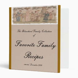 Kate Greenaway Recipe Cover w/Matching Pages 3 Ring Binder