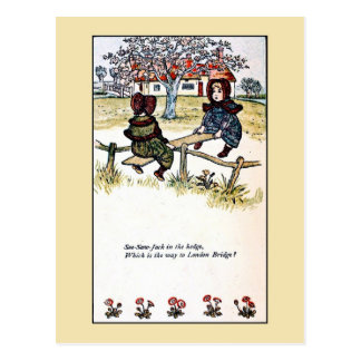 Kate Greenaway: See-saw Jack Postcard
