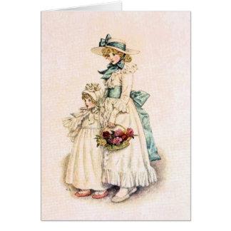 Kate Greenaway: Sisters Card