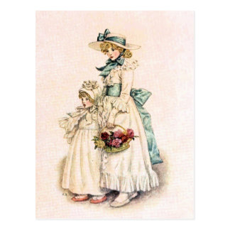 Kate Greenaway: Sisters Postcard