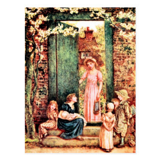 Kate Greenaway: The Open Door Postcard