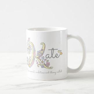 Kate letter K name meaning monogram mug