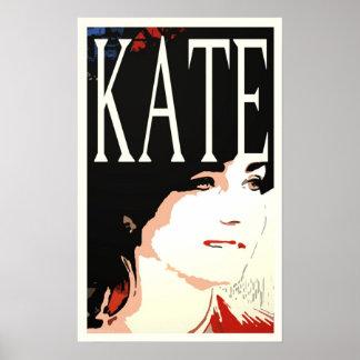 Kate Middleton pop art poster/print Poster