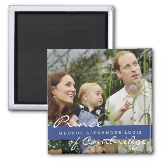 Kate Middleton Prince George 2 Inch Square Magnet