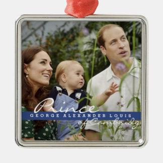 Kate Middleton Prince George Metal Ornament