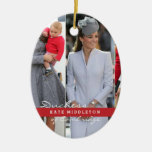 Kate Middleton Prince George Double-Sided Oval Ceramic Christmas Ornament