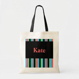 Kate Pretty Striped Tote Bag