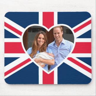 , Kate, príncipe George - bandera británica Alfombrillas De Ratón