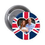 , Kate, príncipe George - bandera británica Pins