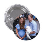 Kate & William Holding Newborn Son Buttons