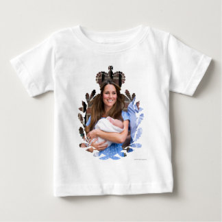Kate & William with Newborn Son Baby T-Shirt